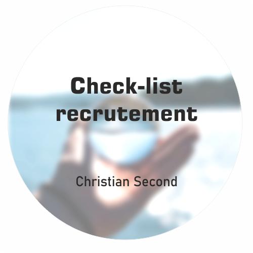 Check-list recrutement Christian Second Coaching